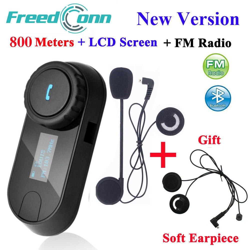 Écran d'interphone de casque d'interphone de moto de Bluetooth de TCOM-SC d'affranchconn avec la Radio FM + l'écouteur mou