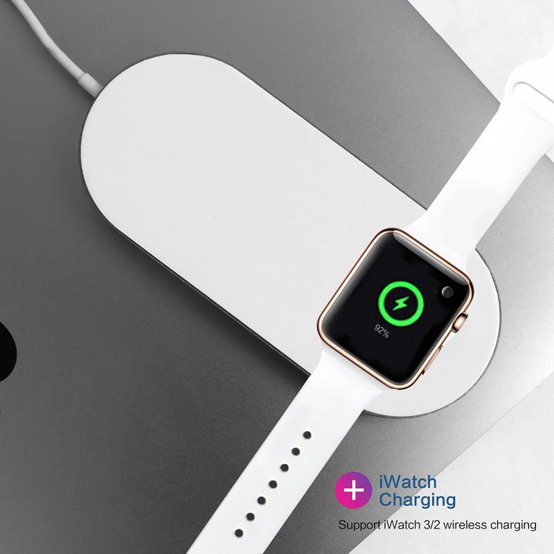 Image 3 - Быстрая Беспроводной Зарядное устройство многофункциональный 2 в 1 Мощность Автоматическая поставка Защита от отключения питания устройств для часы Apple samsung серии-in Зарядники from Бытовая электроника