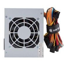 Максимальный 450 Вт блок питания центральный процессор для ПК 12 В 20 + 4Pin 80 мм бесшумный вентилятор Atx Pc Pcie с Sata выключатель питания для Intel Amd компьютера США