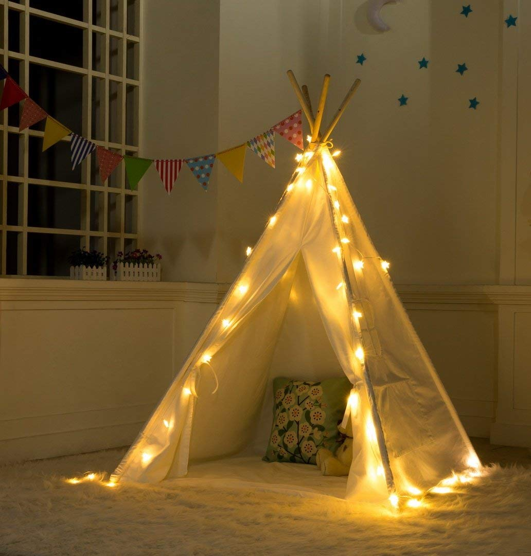 Kids Playhouse Sleeping Dome Children Play Toys Teepee Tent Cloth Baby Photo Props Castle Triangle Kids Folding Tent Gift