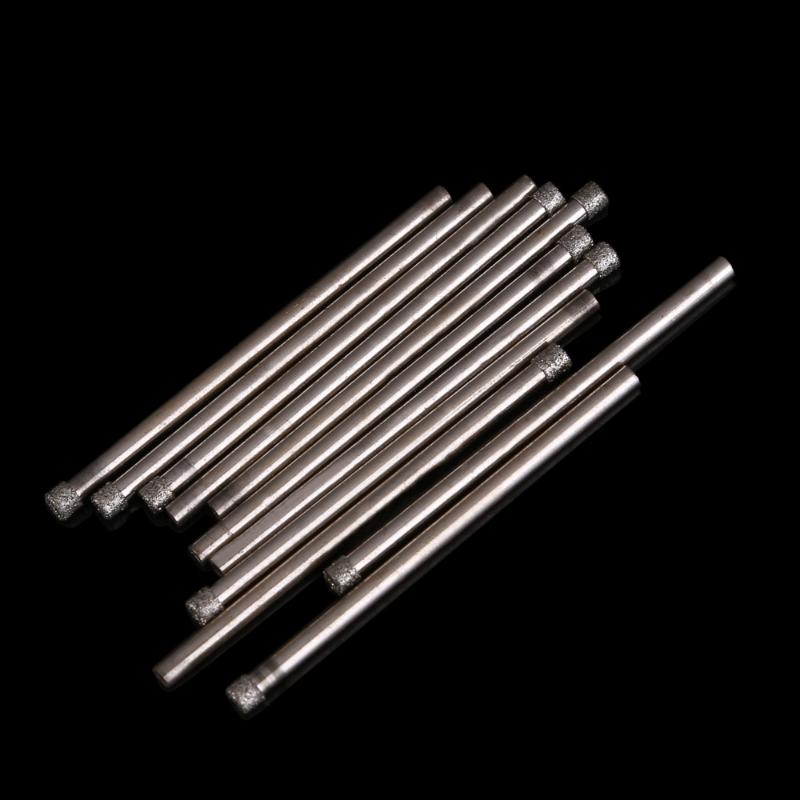 3mm Diamond Coated Drill Bit Hole Saw Core Drills 10 Pieces  Speed Steel Wood Hole Cutter Cone Drill