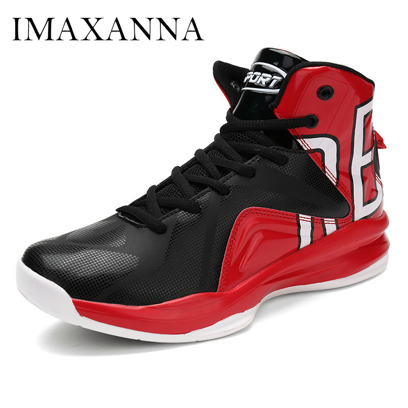 IMAXANNA New Man Basketball Shoes 2019 Leather Sneakers Mens Sports Lace Up Sport Shoe High Top Fashion Outdoor Athletic MenIMAXANNA New Man Basketball Shoes 2019 Leather Sneakers Mens Sports Lace Up Sport Shoe High Top Fashion Outdoor Athletic Men