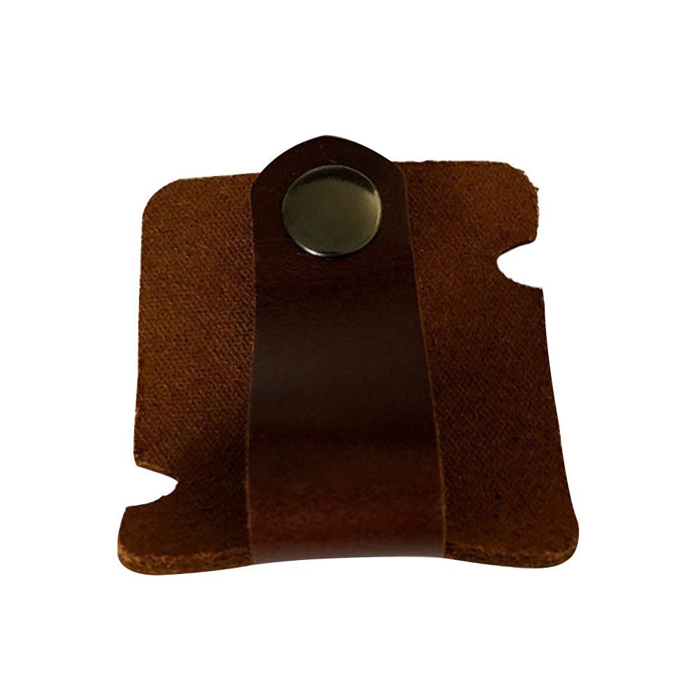 Wrap Portable Winder Press Button Holder Earphones Organizer  Manager Artificial Leather Practical