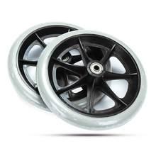 """2 шт 150 мм("""")/200 мм(8"""") серый резиновый маленький не маркировочный аксессуар для колес инвалидных колясок PP резиновый ролик для стула"""