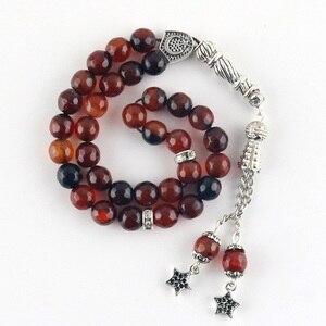 Image 5 - 100% original Natural agate stone Tesbih Islamic prayer beads Tasbih Muslim for prayer beads prayer 8mm beads Misbaha Tasbeeh