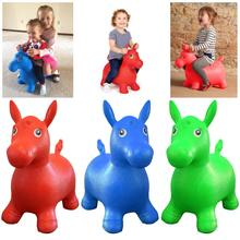Kids Animal Bouncy Horse Hopper Toys Inflatable Bouncer Jumping Riding Baby Play Outdoor/Indoor Hand Pump