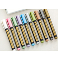 SIXONE Sta 10 цветов набор металлических художественных маркеров граффити Многоцветный металлический маркер для краски черная карта Цвет Рисов...