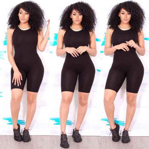 Phụ nữ phụ Nữ Thời Trang Giản Dị Không Tay Skinny Bodycon Romper Jumpsuit Câu Lạc Bộ Vớ Bodysuit Màu Đen Màu Xanh Lá Cây Màu Vàng Đỏ
