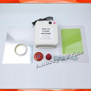 Image 3 - Mini Simple 36W UV Exposure Lamps Flash Stamp Machine Self inking Stamping Making Sealer 15x20mm Polymer 2Pcs Plate Kit