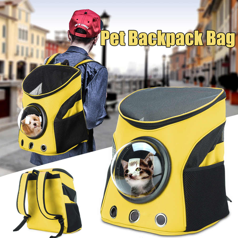 Дышащий астронавт ПЭТ рюкзак кошка щенок сумка для переноски дорожная сумка модный космический капсульный рюкзак сумка устойчивый к царапинам прочный