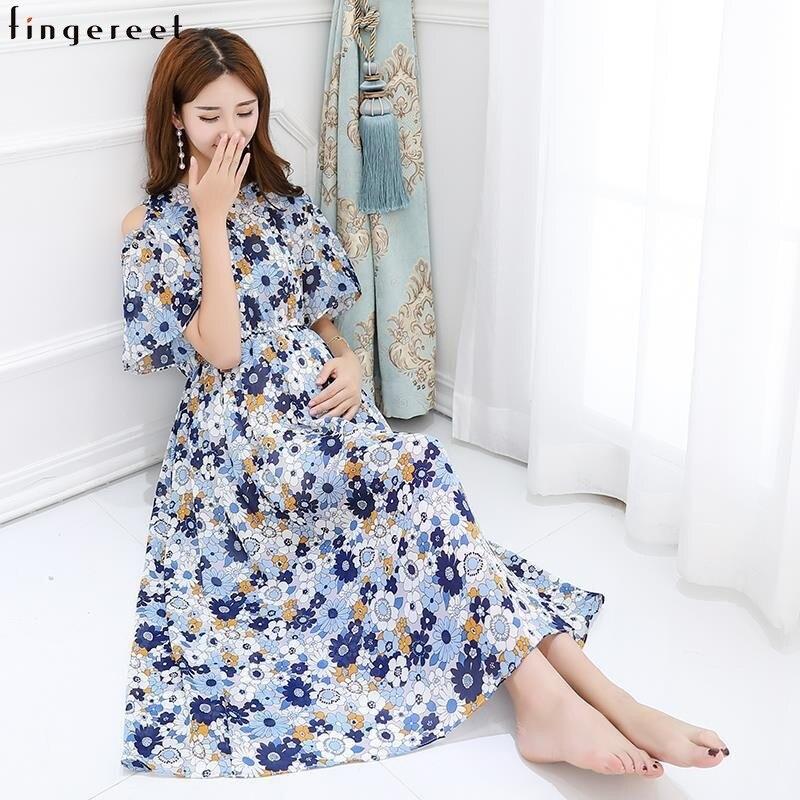 Impression florale femme robe frissonnante sans bretelles à manches courtes longue femme large ourlet robes