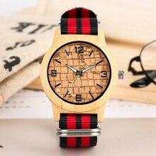 Retro Bricks Display Wood Watch Men Quartz Clock Male Women's Nylon Bracelet Original Wooden Bamboo Wristwatch reloj para hombre цена