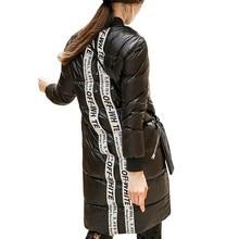 Black Fashion Branded Duck Down Jacket Women Winter Outerwear Coats Female Long Casual Light Ultra Warm Down Jacket Parka HJ58 цены онлайн