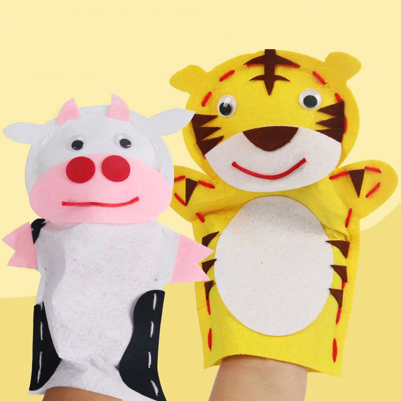 Craft:  Diy Hand Puppets Make Material Package Weaving Fabric Art No Sew Paste Kids Craft &Craft Creativity Handicraft Arts And Crafts - Martin's & Co
