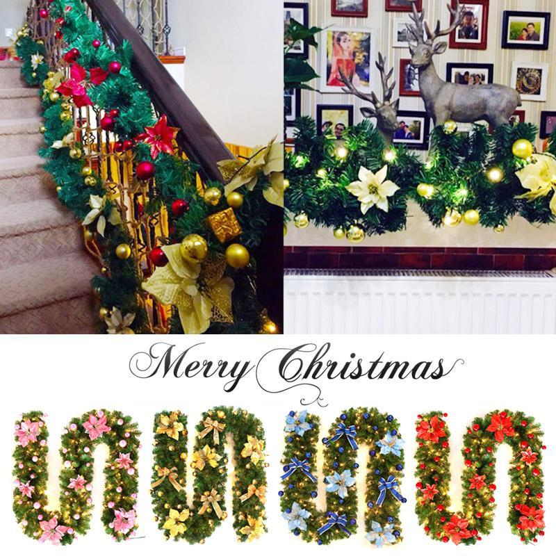 Xmas Lights And Erina Party Shop: 270cm LED Christmas Rattan Lights With Bows Decoration