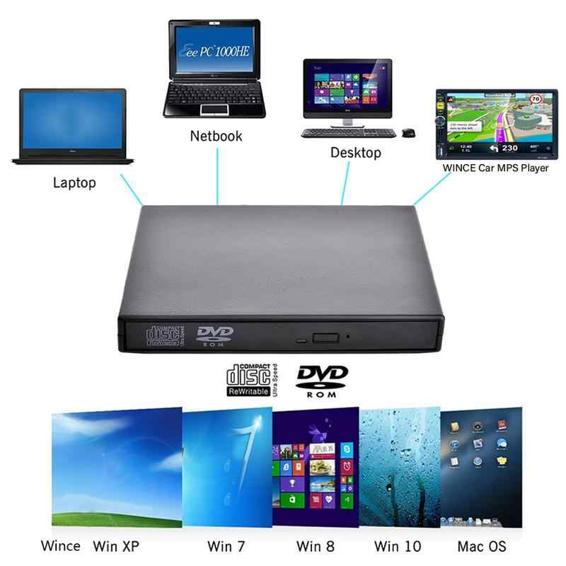 Universal USB 2.0 Portable External CD ROM DVD Player Drive Disc Support MP5 Player For IMac Mac Book Air Pro Laptop PC Desktop