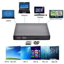 Uniwersalny USB 2.0 przenośny zewnętrzny odtwarzacz CD ROM odtwarzacz DVD napęd dysk wsparcie odtwarzacz MP5 dla komputera Mac macbook Air Pro Laptop PC Desktop