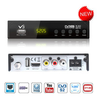 Digital Tv set top box Tuner DVB S2 H.265 Free Satellite Receiver Internet Youtube finder IPTV Receptor Decoder BissVu Wifi Lan