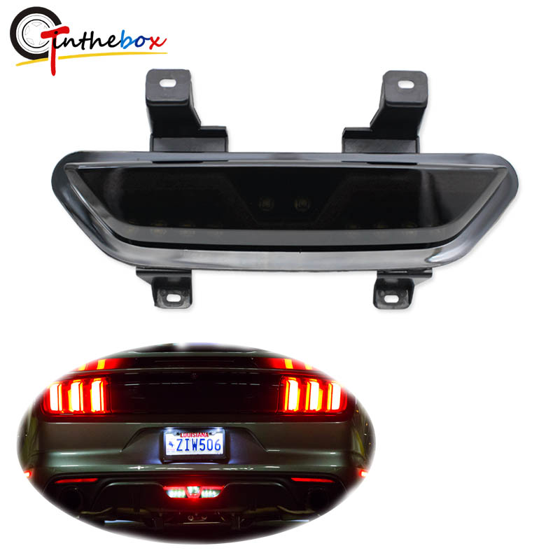 NEW Rear GT Emblem Blue Light up LED Trunk Lid Fitted for 2015-17 Ford Mustang