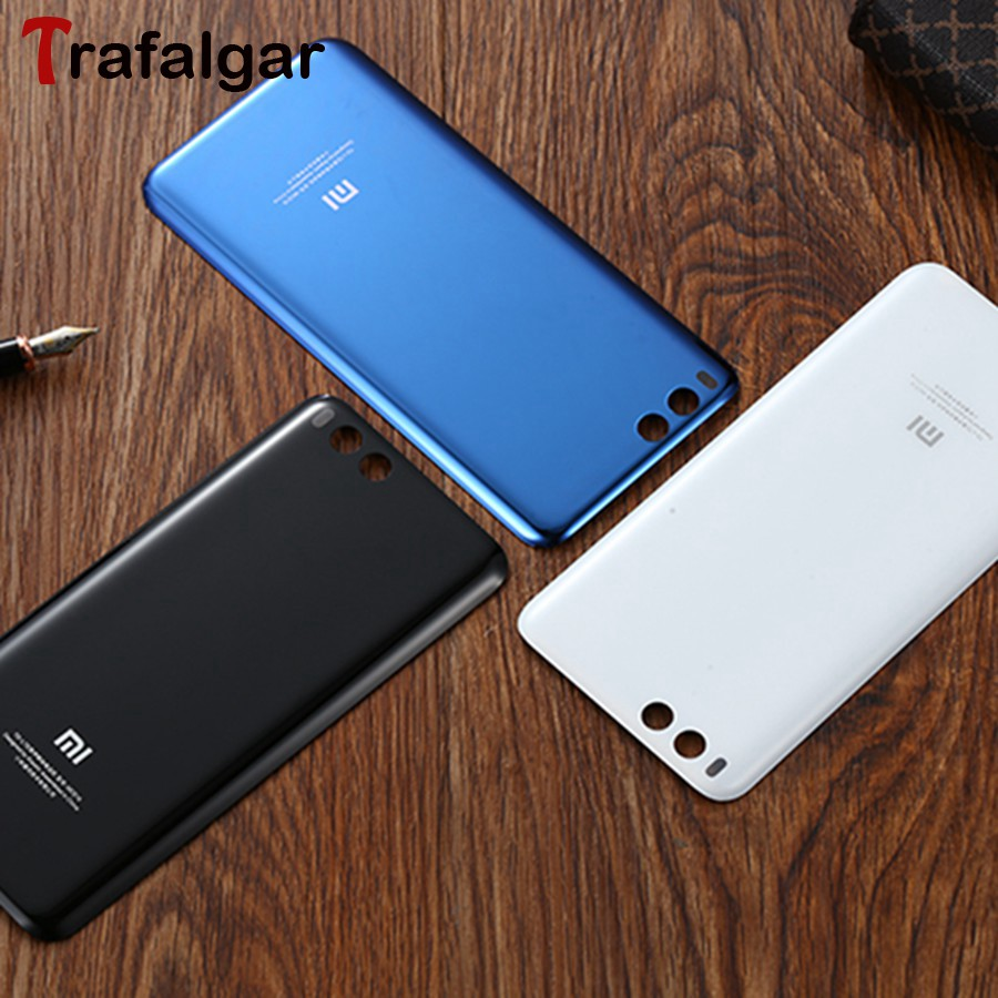 Xiaomi Mi6 Battery Cover Back Housing Case For Xiaomi Mi 6 Rear Door Glass Panel For Xiaomi Mi6 Battery Cover Replacement(China)