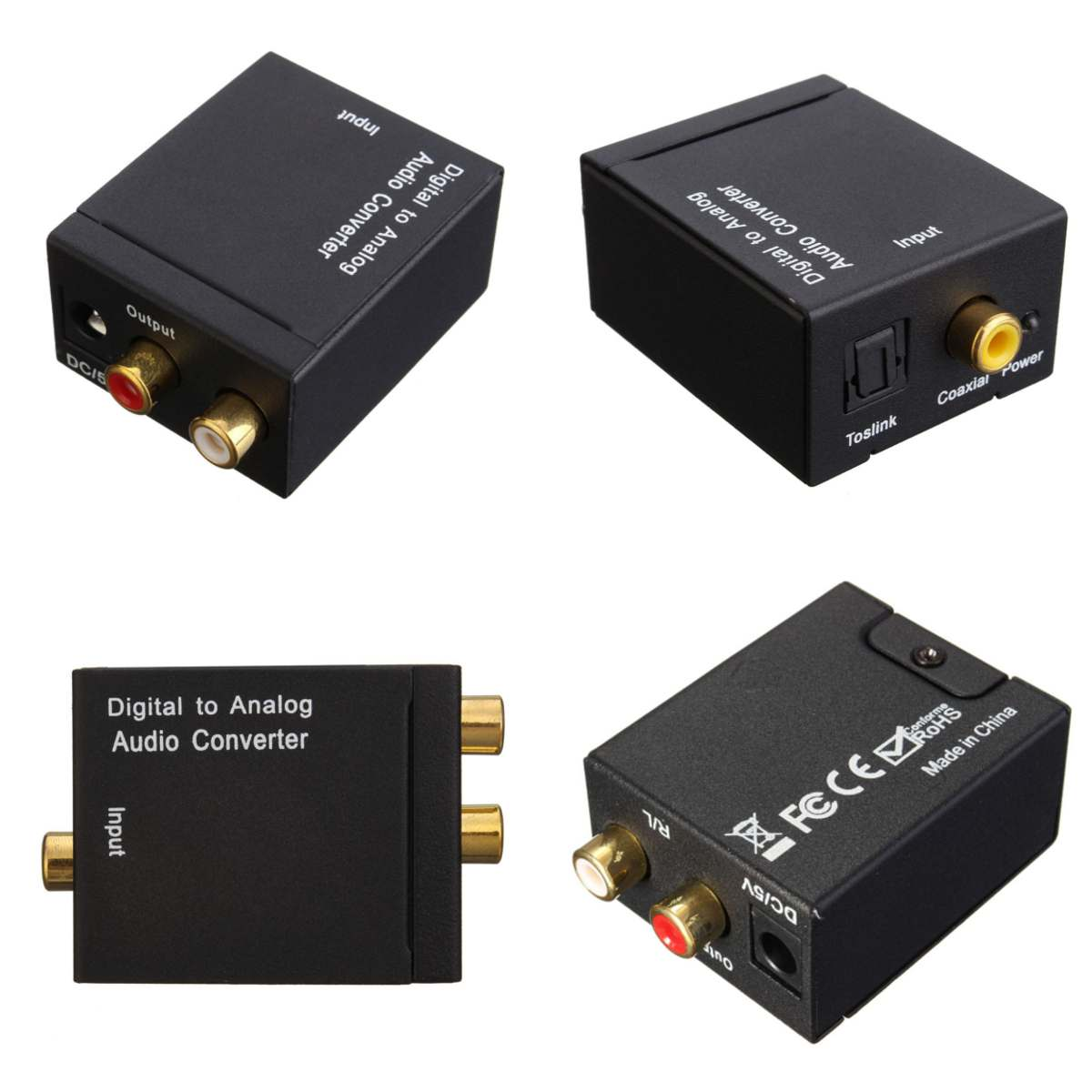 Leory 5 V Digital Zu Analog L/r Spdif Koaxial Coax Rca & Optische Toslink Audio Converter Großhandel Neue Ankunft Tragbares Audio & Video Digital-analog-wandler