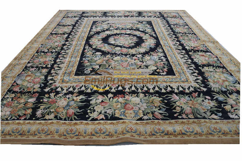 Savonnerie  Oriental Hand-woven Wool Rug Plush Wool French Savonnerie Hand Made Rug Carpet New Listing Art Carpet