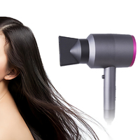 1400W Power 110/220V Household Hair Dryer Negative Ion Thermostatic Electric Hairdryer Hot/Cold Wind With Air Collecting Nozzle