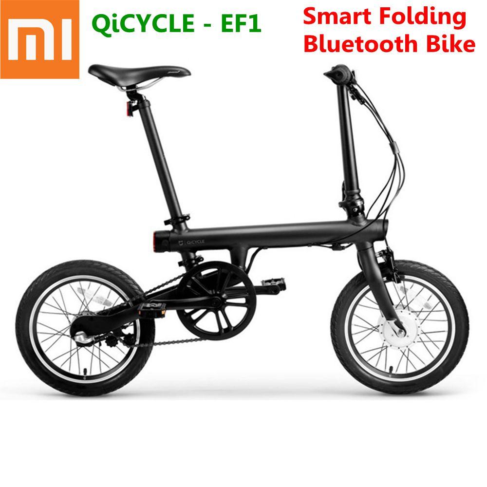 926968d9f8b 100% Original Xiaomi QiCYCLE-EF1 Smart Folding Electric Bike Bluetooth 4.0  16 Inch Mini