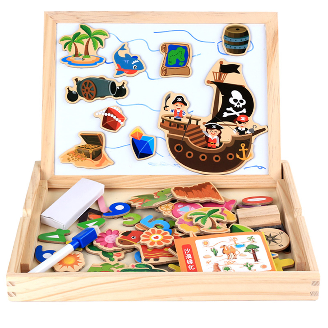 2019 Krijt Boord Dubbelzijdig Houten Magnetische Permanent Schildersezel Schilderen Board Vroege Educatief Speelgoed Voor Kinderen Tekening Kit Glanzend Oppervlak