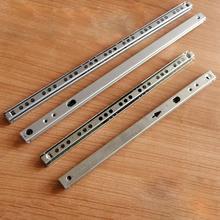 2 секции из микро направляющей стали, 17 широких стальных шариков, 2 складные шаровые направляющие ящик для шкафов, стальной шар 182/246/278/342/406 мм ...