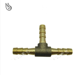 T-Shape Brass Barb Hose Fitting Tee 4mm 6mm 8mm 10mm 12mm 16mm 3 Way Hose Tube Barb Copper Barbed Coupling Connector Adapter