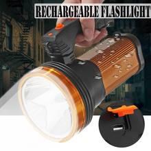 USB Rechargable LED Flashlight LED Torch Searchlight Spotlig