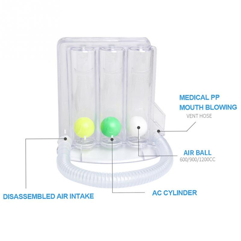 Three ball Apparatus Vital Capacity Breathing Trainer Incentive Spirometer Lung Breathing Exerciser Rehabilitation Training in Integrated Fitness Equipments from Sports Entertainment