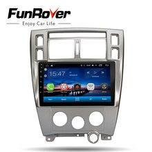 FUNROVER автомобиля радио мультимедиа dvd плеер 10,1 «android 8,0 для hyundai Tucson 2006-2014 Стерео gps головное устройство аудиосистемы магнитофон