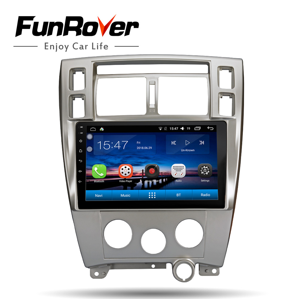FUNROVER Car radio Multimedia dvd player 10 1 android 8 0 For Hyundai Tucson 2006 2014