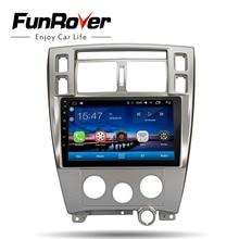 FUNROVER автомобильный Радио мультимедийный dvd-плеер 10,1 «android 8,0 для hyundai Tucson 2006-2014 Стерео gps головное устройство аудиосистемы магнитофон