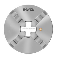 100mm 4'' Self Centering 4 Jaw Lathe Chuck SANOU K12-100 Hardened Reversible Mounting Tool for Drilling Milling woodworking