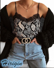 Summer Women Clothes 2019 New Summer Womens Sexy Leopard Snake Lace Print Casual Camisole Strappy Tops living dead souls womens juniors sexy lace camisole pink black