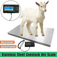 Newest Electronic Balance Floor Bench Weight Commercial Scales Digital Platform Scales Animal/Parcel Platform Scale 300kg