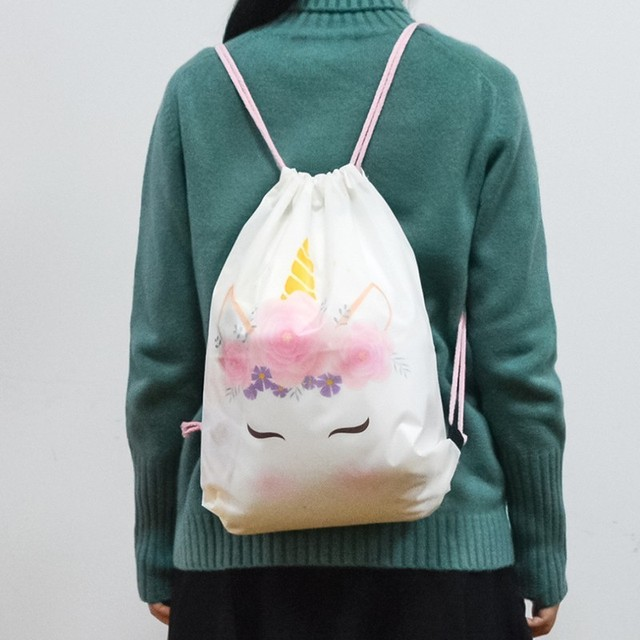 Rainbow Unicorn Round Beach Towel With Storage Bag
