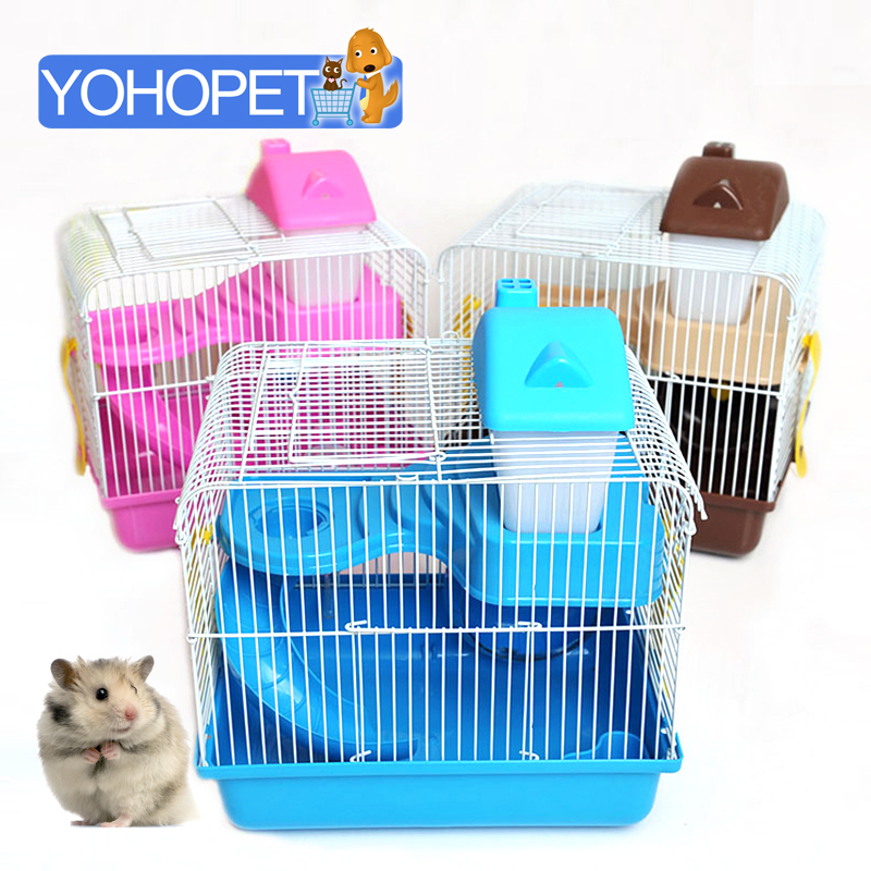Deluxe Double hamster cage Animal House Guinea Pig Bed Hamster In A House Toys Cages For Hamsters Tunnel house Pet Cage Hamster
