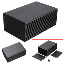 Aluminum Enclosure 100x66x43mm Electronic Box Black PCB Instrument Meter Case DIY Project