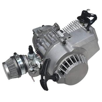 Motor de 49cc de 2 tiempos de arranque por cuerda, motor de transmisión de motocicleta, Mini motor de bolsillo Quad Dirt Bike ATV, accesorios de 4 ruedas