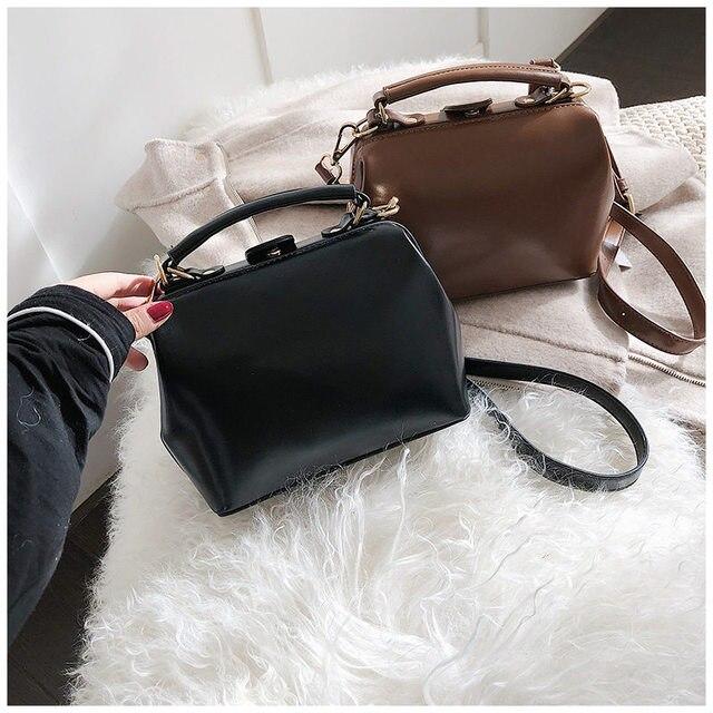 6159b62482 Large Capacity Luxury Handbags Women Bags Designer Lock Zipper Solid Color Bags  Women Hot Sale Bag Female 2019 Black Women s