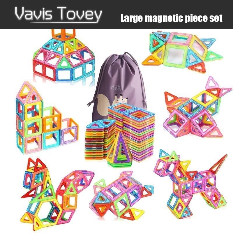 Vavis Tovey 30 200pcs Big Blocks Designer DIY Plastic Building & Construction Toy Magnetic Tiles Educational Toys Children