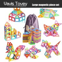 Vavis Tovey 30 200pcs Big Blocks Designer DIY Plastic Building & Construction Toy Magnetic Tiles Educational Toys Children