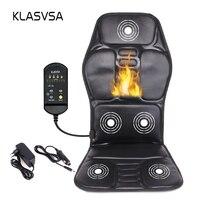 KLASVSA Electric Back Massager Chair Cushion Vibrator Portable Home Car Office Neck Lumbar Waist Pain Relief Seat Pad Relax Mat