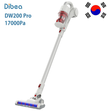 Dibea DW200 Pro Cordless 2 in 1 Hand-held Stick Vacuum Cleaner Low Noise Portable Household Dust Collector 17000Pa large suction