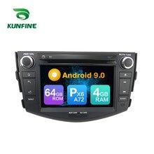 Android 9.0 núcleo px6 a72 ram 4g rom 64g carro dvd gps reprodutor multimídia estéreo do carro para toyota rav4 2009 rádio unidade central