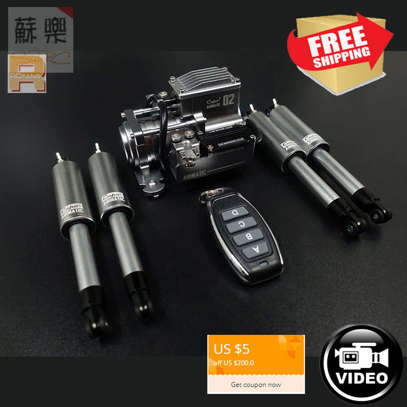 RC Car JKMAX Capo Air suspension systems with remote AIRMATIC II 1/10 full setRC Car JKMAX Capo Air suspension systems with remote AIRMATIC II 1/10 full set